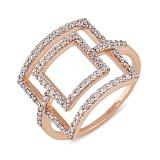 Кольцо из красного золота Магия квадратов с бриллиантами