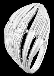 Серебряное кольцо с фианитами Миранда