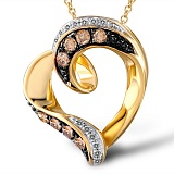 Кулон из золота Пьянящая любовь с бриллиантами