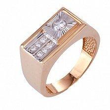 Золотое кольцо с фианитами Нолан