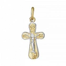Крестик из серебра Символ духа с позолотой 000025200