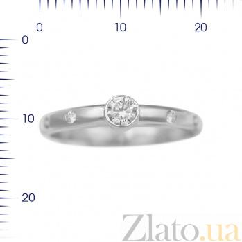 Серебряное кольцо Клэр с фианитами 000081525