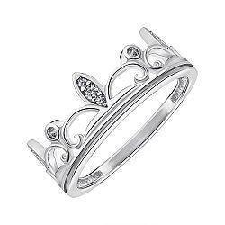 Серебряное кольцо с фианитами 000148467