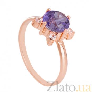 Золотое кольцо с александритом и фианитами Ванда VLN--112-1338-9