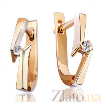 Серьги из  золота Аморет с бриллиантами EDM-С7381