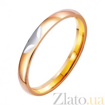 Золотое обручальное кольцо Весна любви TRF--411950