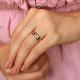 Золотое кольцо Эрика с сапфирами