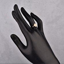 Кольцо в красном золоте Четырехлистник с фианитами в стиле Ван Клиф