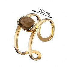Кольцо из желтого золота Альбина с раухтопазом