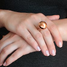 Золотое кольцо Токио с цирконием