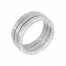 Серебряное обручальное кольцо Лучше всех с фианитами