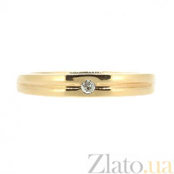 Золотое кольцо в красном цвете с бриллиантом Селена 000021392