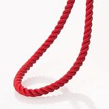 Шелковый шнурок Альт с серебряной застежкой-карабином