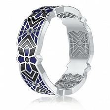 Мужское обручальное кольцо из белого золота Калейдоскоп Любви: Увертюра к счастью