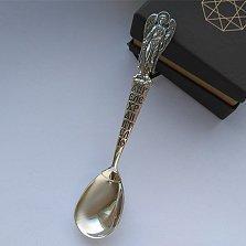 Серебряная кофейная ложечка Ангел Хранитель