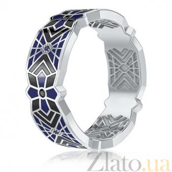 Мужское обручальное кольцо из белого золота Калейдоскоп Любви: Увертюра к счастью 3363