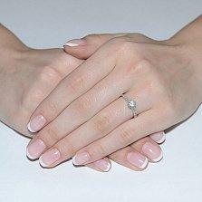Кольцо в белом золоте Бланка с фианитами