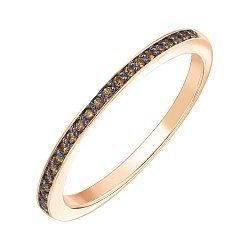 Кольцо из красного золота с бриллиантами и родированием 000141227