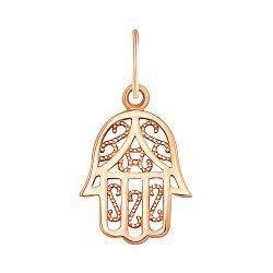 Подвеска Рука Фатимы из красного золота 000129599