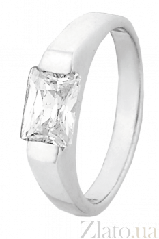 Серебряное кольцо с цирконием Адония 000025691