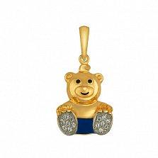 Детский кулон Мишка из желтого золота