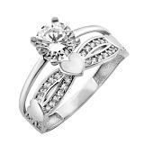 Серебряное кольцо Доказательство Любви с фианитами