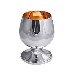 Серебряный бокал для коньяка с внутренней позолотой, 150мл 000010674