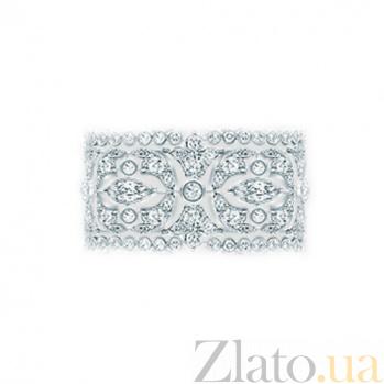 Золотое кольцо с бриллиантами Нью-Йорк 000029840