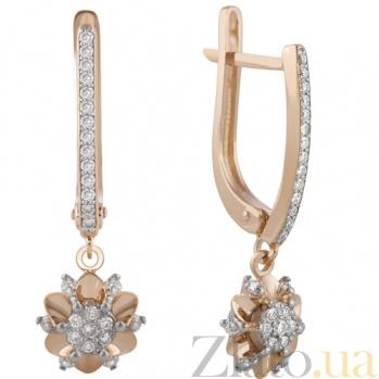 Серьги-подвески с бриллиантами Бернадетт KBL--С2506/крас