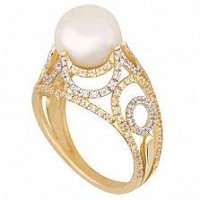 Золотое кольцо с жемчугом Фериде