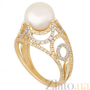 Золотое кольцо с жемчугом Фериде VLT--ТТТ1212