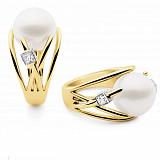 Кольцо Argile-A с жемчугом и бриллиантом