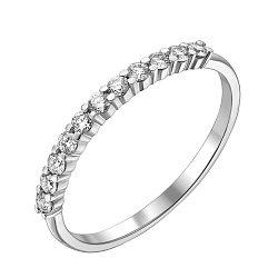 Кольцо из белого золота с бриллиантами 000131652