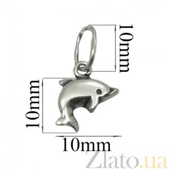 Серебряный кулон Дельфин 03028