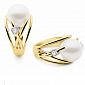 Кольцо Argile-A с жемчугом и бриллиантом E-cjP-E-1d