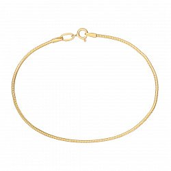 Браслет Офелия в желтом золоте, 1,5мм