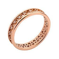Кольцо золотое с цирконием 000056934