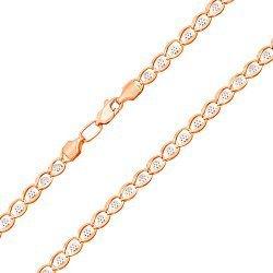 Золотая цепочка в комбинированном цвете 000134405