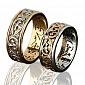 Женское обручальное кольцо Сан-Тропе из комбинированного золота с бриллиантами 000013719
