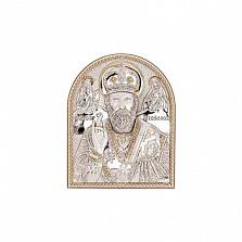 Икона Николая Чудотворца серебро с позолотой