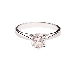 Золотое помолвочное кольцо с бриллиантом Идеальный союз
