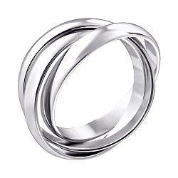 Обручальное кольцо-тринити из белого золота 000129411