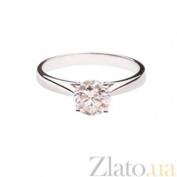 Золотое помолвочное кольцо с бриллиантом Идеальный союз 1К034-0850