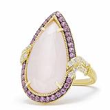 Кольцо Ashkenazi с розовым кварцем