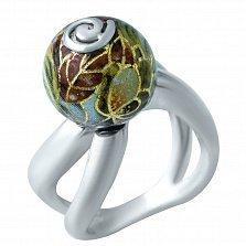 Серебряное кольцо Арина с цветной эмалью