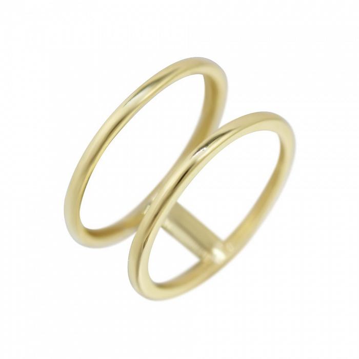 Золотое двойное кольцо на фалангу Новая эра 000081317