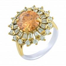 Кольцо из серебра и бронзы Маргарет с цирконием