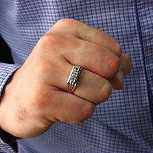 Серебряный перстень с изумрудами Босс