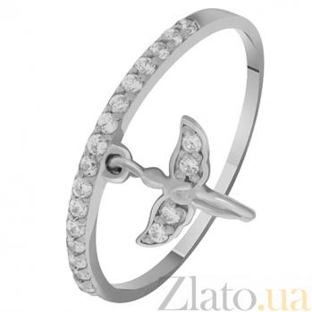 Золотое кольцо с подвеской Ангел 000032756