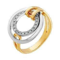 Золотое кольцо с фианитами Валентайн 000036373